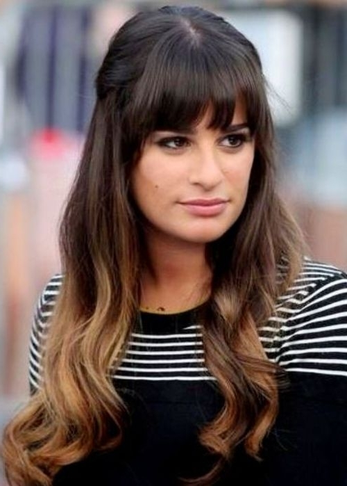 30 Best Half Up, Half Down Hairstyles | Hairstyles Intended For Half Pony Hairstyles With Parted Bangs (View 10 of 25)