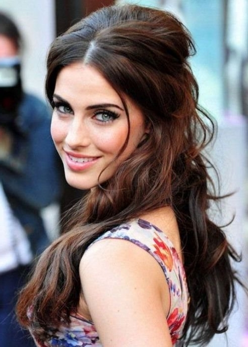 30 Best Half Up, Half Down Hairstyles | Herinterest/ For Half Pony Hairstyles With Parted Bangs (View 11 of 25)