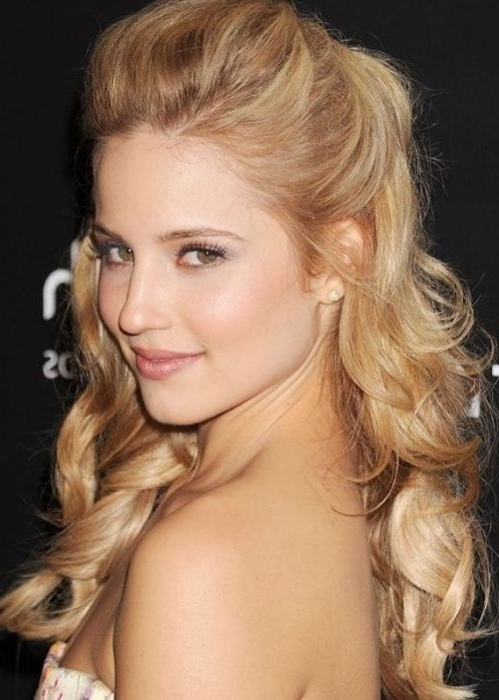 30 Best Half Up, Half Down Hairstyles | Herinterest/ Throughout Voluminous And Carefree Loose Look Blonde Hairstyles (View 25 of 25)