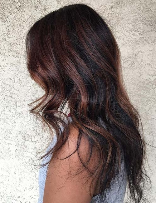 30 Best Highlight Ideas For Dark Brown Hair Intended For Maple Bronde Hairstyles With Highlights (View 7 of 25)