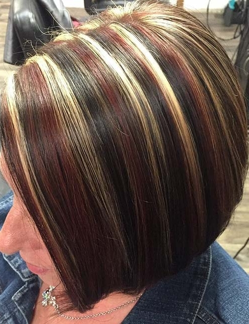 30 Best Highlight Ideas For Dark Brown Hair Pertaining To Dark Brown Hair Hairstyles With Silver Blonde Highlights (View 20 of 25)