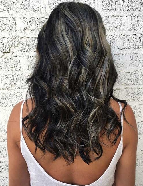 30 Best Highlight Ideas For Dark Brown Hair With Dark Brown Hair Hairstyles With Silver Blonde Highlights (View 5 of 25)