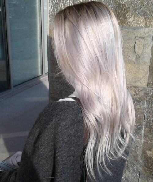 30 Best Platinum Blonde Hair Colors For 2018 For Pale Blonde Balayage Hairstyles (View 18 of 25)