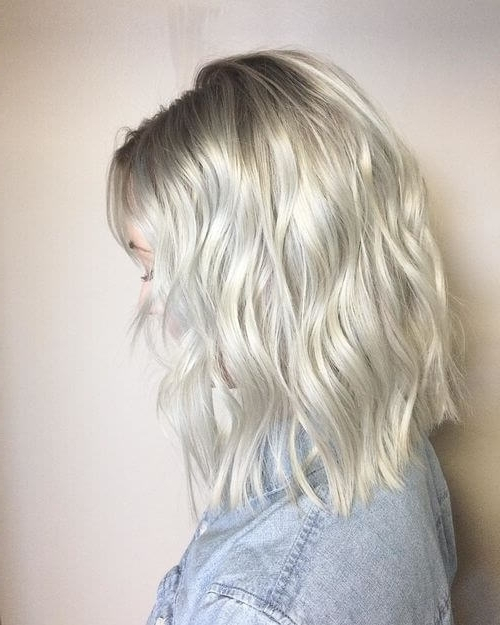 30 Best Platinum Blonde Hair Colors For 2018 Intended For Icy Ombre Waves Blonde Hairstyles (View 6 of 25)