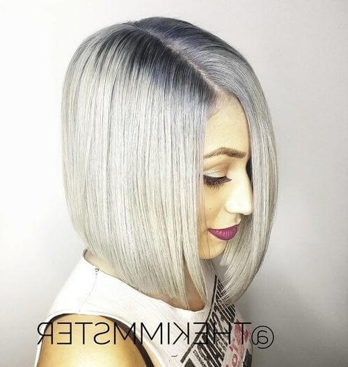 30 Best Platinum Blonde Hair Colors For 2018 Throughout Icy Ombre Waves Blonde Hairstyles (View 19 of 25)