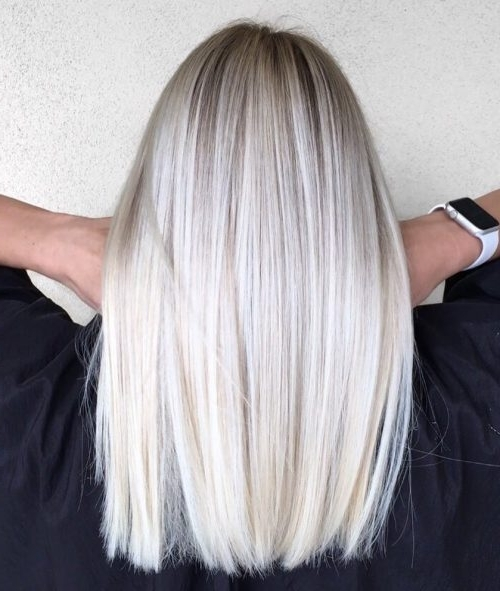 30 Best Platinum Blonde Hair Colors For 2018 Throughout Platinum Highlights Blonde Hairstyles (View 6 of 25)