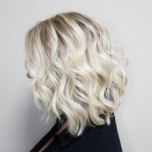 30 Best Platinum Blonde Hair Colors For 2018 With Regard To Pearl Blonde Bouncy Waves Hairstyles (View 6 of 25)