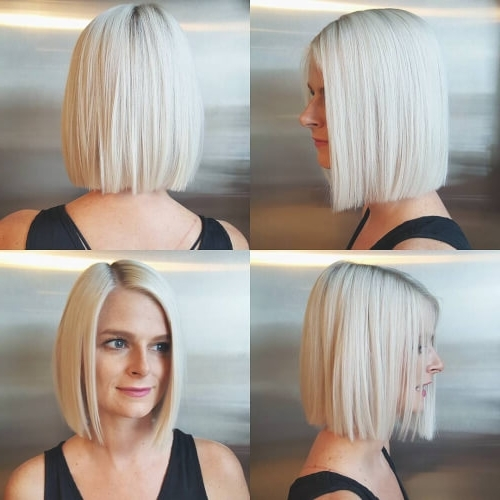 30 Best Platinum Blonde Hair Colors For 2018 Within Solid White Blonde Bob Hairstyles (View 17 of 25)