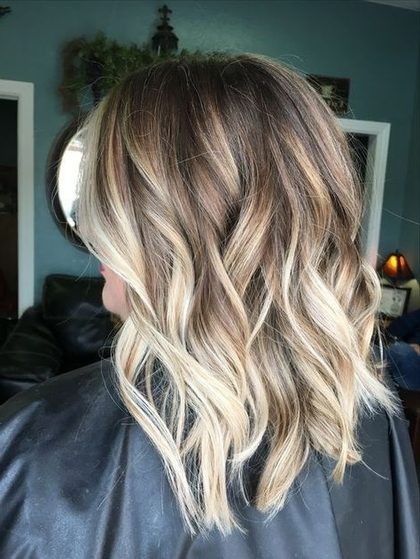 30 Blonde Balayage Hair Colors From Fall To Winter | Hair In Brown Blonde Balayage Lob Hairstyles (View 2 of 25)