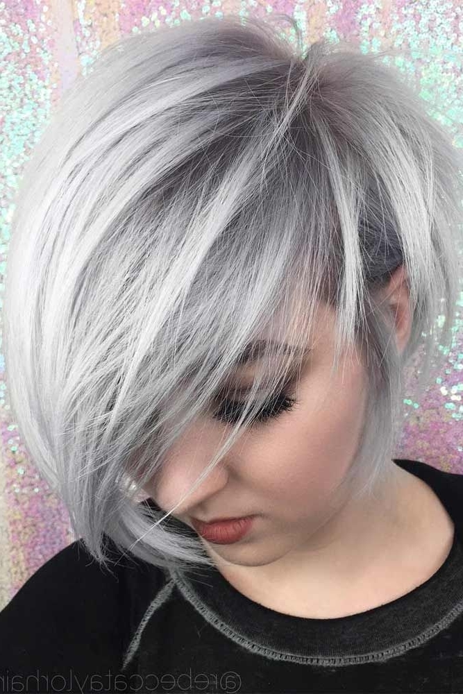 30 Blonde Short Hairstyles For Round Faces | Hair And Makeup For Current Gray Blonde Pixie Hairstyles (View 22 of 25)