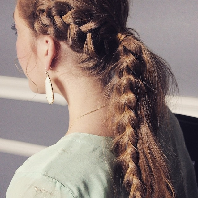 30 Braided Ponytail Hairstyles To Slay In 2018 | Hairstyle Guru Inside Messy Ponytail Hairstyles With Side Dutch Braid (View 7 of 25)