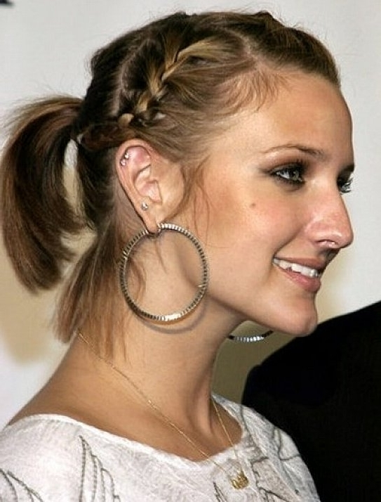 30 Braided Ponytail Hairstyles To Slay In 2018   Hairstyle Guru Inside Updo Pony Hairstyles With Side Braids (View 24 of 25)