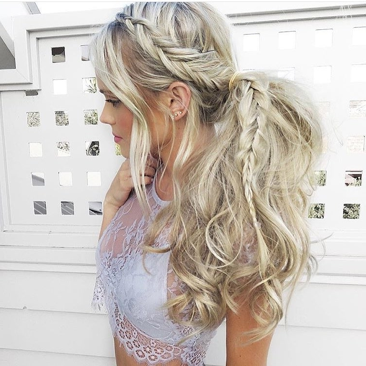 30 Braided Ponytail Hairstyles To Slay In 2018 | Hairstyle Guru Regarding Long Messy Pony With Braid (View 8 of 25)