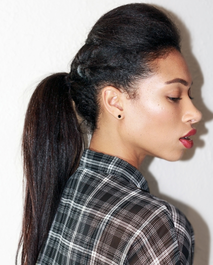 30 Braided Ponytail Hairstyles To Slay In 2018 | Hairstyle Guru Regarding Poofy Ponytail Hairstyles With Bump (View 23 of 25)