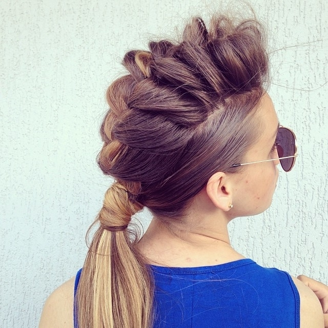 30 Braided Ponytail Hairstyles To Slay In 2018 | Hairstyle Guru Regarding Two Tone High Ponytail Hairstyles With A Fauxhawk (View 11 of 25)