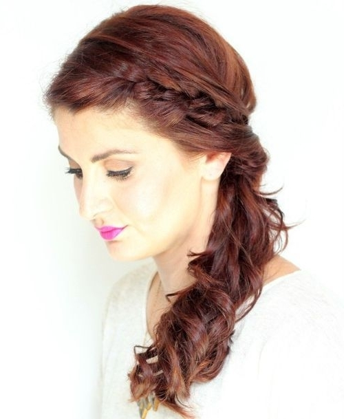 30 Braided Ponytail Hairstyles To Slay In 2018 | Hairstyle Guru Throughout Ginger Highlights Ponytail Hairstyles With Side Bangs (View 20 of 25)