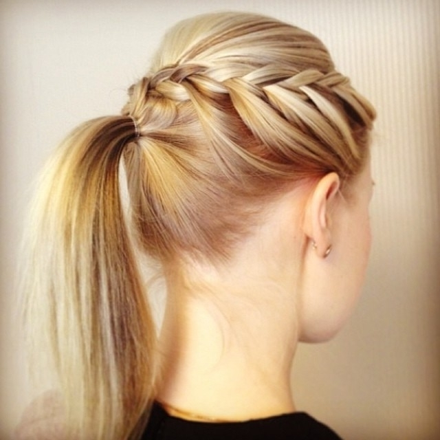 30 Braided Ponytail Hairstyles To Slay In 2018 | Hairstyle Guru Throughout Side Braided Sleek Pony Hairstyles (View 12 of 25)