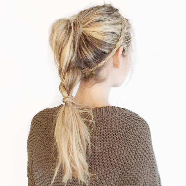 30 Chic Braid Into Ponytail Styles That Will Spice Up Your Look Intended For Twisted And Tousled Ponytail Hairstyles (View 18 of 25)