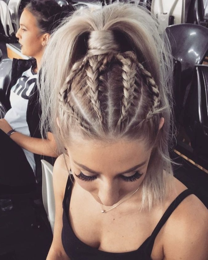 30 Chic Braid Into Ponytail Styles That Will Spice Up Your Look Pertaining To Braided Mohawk Pony Hairstyles With Tight Cornrows (View 2 of 25)