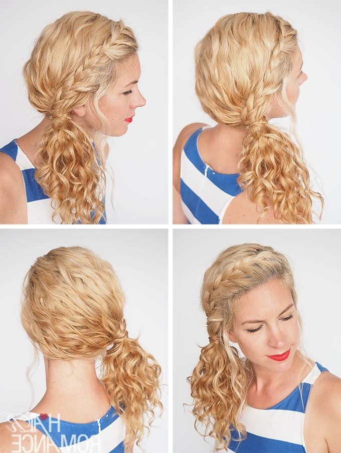 30 Curly Hairstyles In 30 Days – Day 3 – Hair Romance Regarding Side Braid Hairstyles For Curly Ponytail (View 12 of 25)