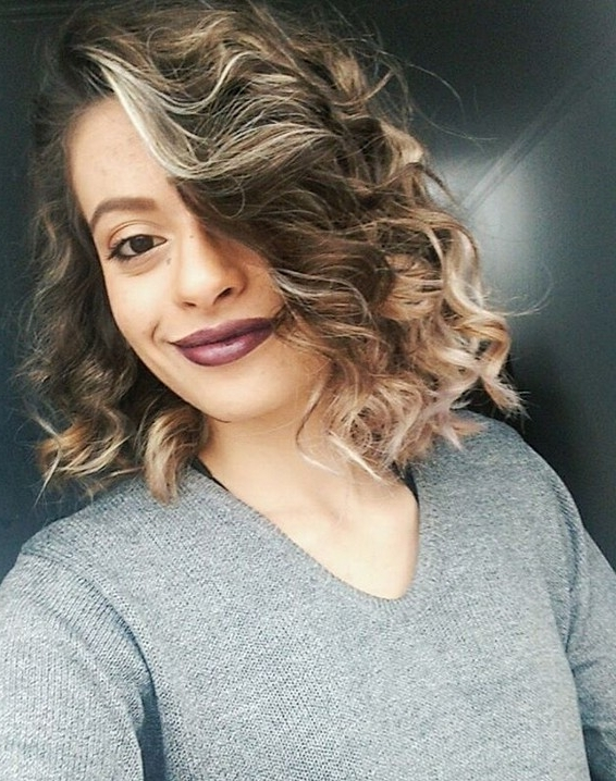 30 Cute Messy Bob Hairstyle Ideas 2018 (Short Bob, Mod & Lob Intended For Curly Highlighted Blonde Bob Hairstyles (View 22 of 25)