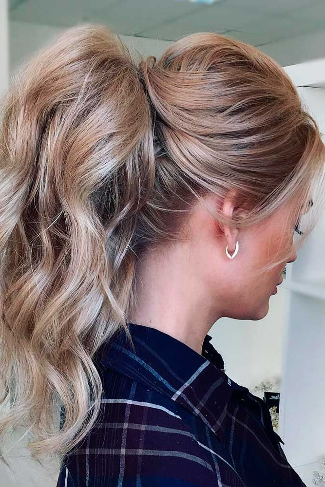 30 Cute Ponytail Hairstyles For You To Try In 2018 | Hair With Regard To Long Blond Ponytail Hairstyles With Bump And Sparkling Clip (View 17 of 25)