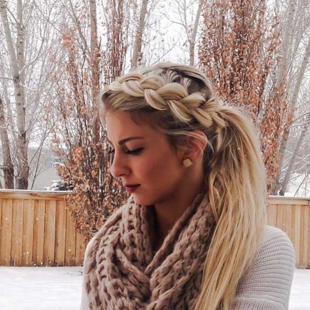30 Cute Ponytail Hairstyles You Need To Try – Hairstyle Insider With Regard To Pretty Messy Pony Hairstyles With Braided Section (View 18 of 25)
