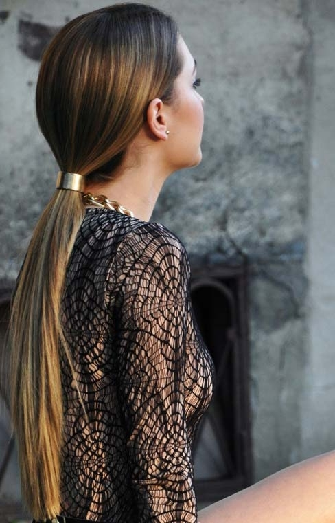 30 Cute Ponytail Hairstyles You Need To Try   Stayglam In Sleek Bubble Ponytail Hairstyles (View 17 of 25)