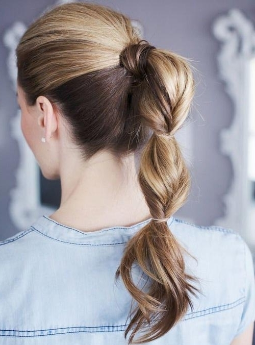 30 Cute Ponytail Hairstyles You Need To Try | Stayglam Pertaining To High Bubble Ponytail Hairstyles (View 6 of 25)