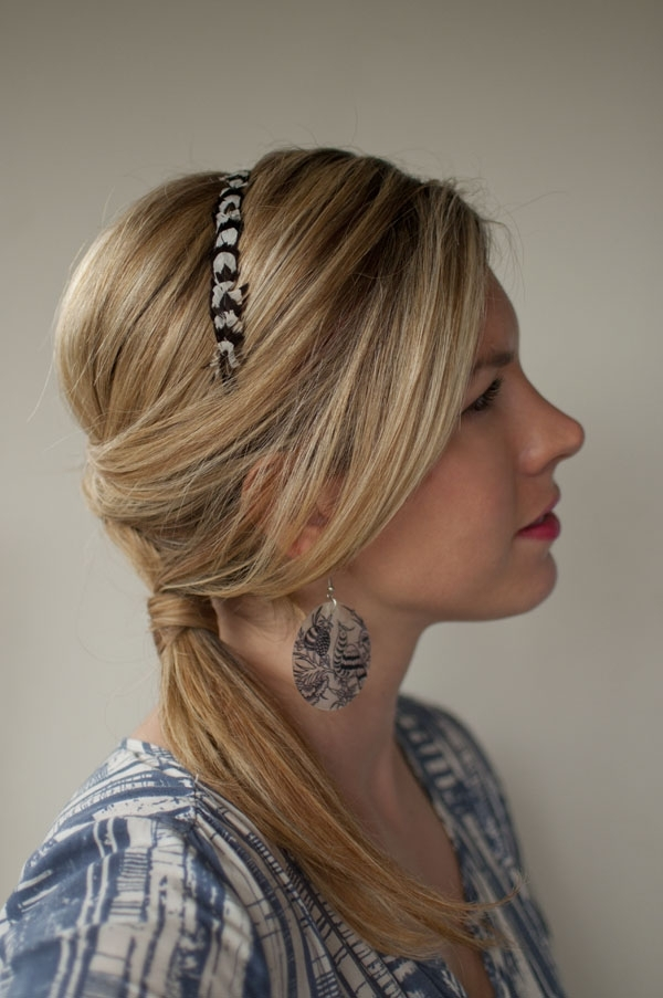 30 Days Of Twist & Pin Hairstyles – Day 24 – Hair Romance Throughout Braided Headband And Twisted Side Pony Hairstyles (View 7 of 25)