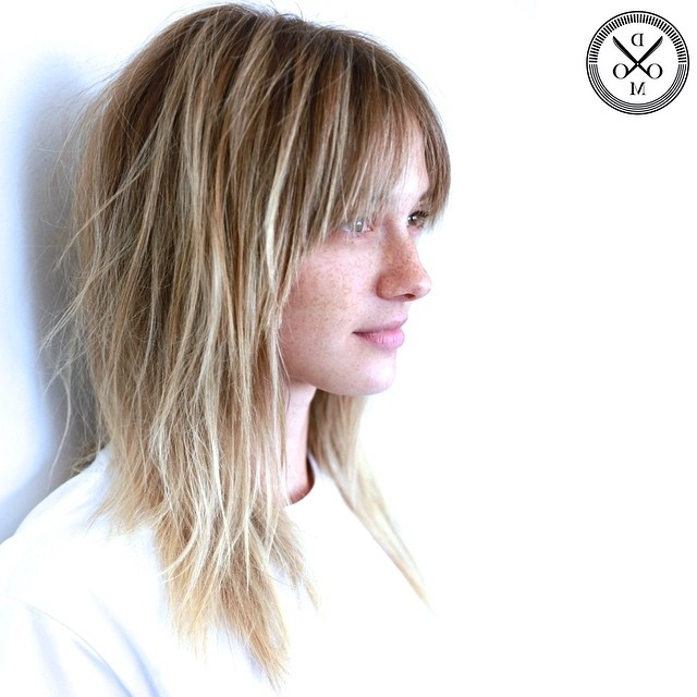 30 Edgy Medium Length Haircuts For Thick Hair [August, 2018] With Regard To Shaggy Chin Length Blonde Bob Hairstyles (View 10 of 25)