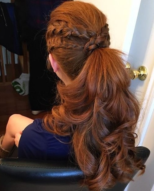 30 Eye Catching Ways To Style Curly And Wavy Ponytails | Pinterest For Double Braided Wrap Around Ponytail Hairstyles (View 3 of 25)