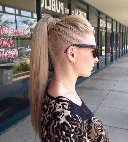 30 Fantastic French Braid Ponytails | Braids | Pinterest | Pompadour Pertaining To Pompadour Pony Hairstyles (View 11 of 25)