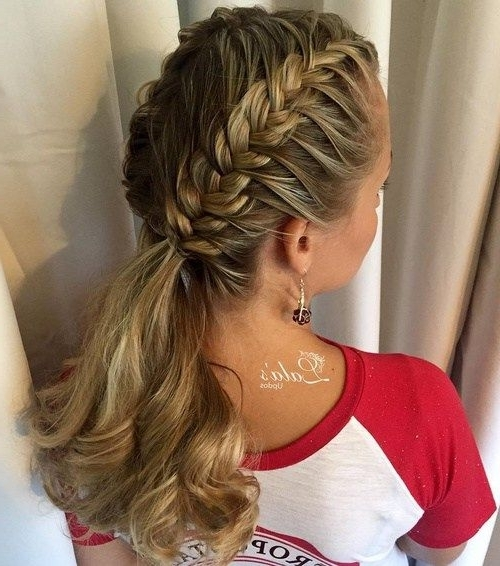 30 Fantastic French Braid Ponytails In 2018 | Braids | Pinterest Within Dutch Braid Pony Hairstyles (View 8 of 25)
