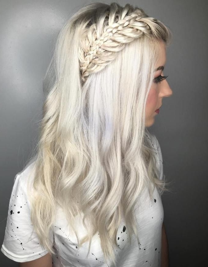 30 Gorgeous Braided Hairstyles For Long Hair | Pinterest | Platinum In Platinum Braided Updo Blonde Hairstyles (View 5 of 25)