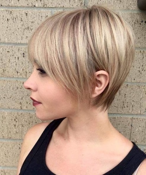 30 Hottest Short Layered Haircuts Right Now (Trending For 2018) Regarding Recent Blonde Pixie Hairstyles With Short Angled Layers (View 7 of 25)