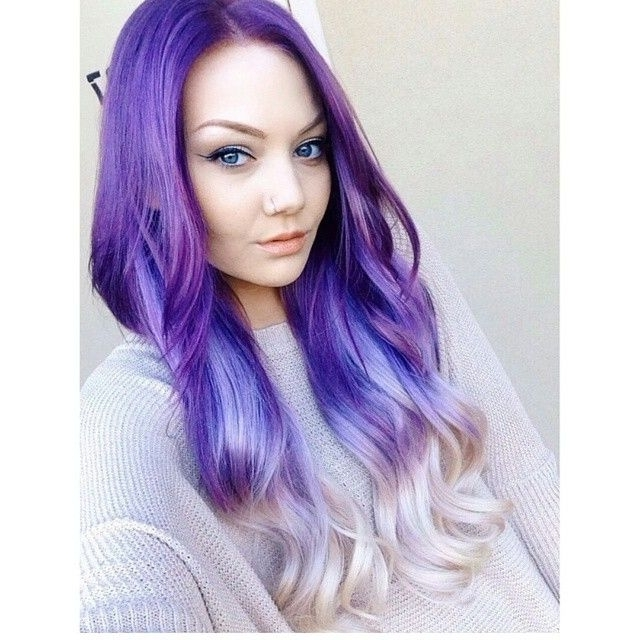 30 Lavender Hair And Purple Hair Styles In Voluminous Platinum And Purple Curls Blonde Hairstyles (View 24 of 25)