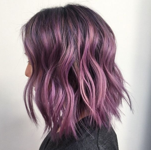 30 Lavender Hair And Purple Hair Styles Inside Voluminous Platinum And Purple Curls Blonde Hairstyles (View 6 of 25)