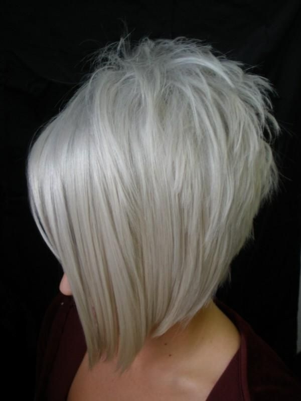 30 Must Try Medium Bob Hairstyles – Popular Haircuts In Stacked White Blonde Bob Hairstyles (View 14 of 25)