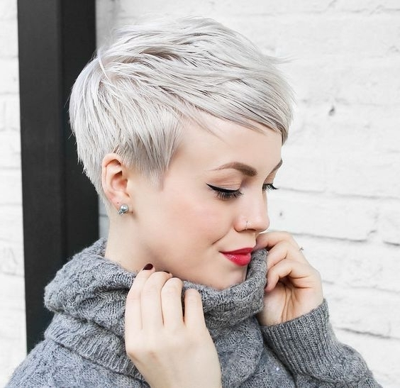 30 Perfect Pixie Haircuts For Chic Short Haired Women Regarding Current Tapered Pixie Hairstyles With Maximum Volume (View 8 of 25)