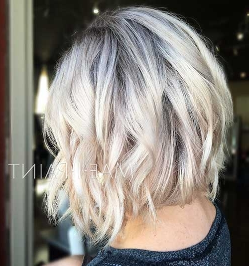 30+ Pics Of Chic & Fun Short Blonde Haircuts – Love This Hair Inside Ice Blonde Lob Hairstyles (View 7 of 25)
