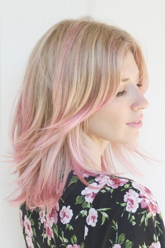 30 Pink Hairstyles Ideas For This Season Inside Most Popular Ashy Blonde Pixie Hairstyles With A Messy Touch (View 9 of 25)