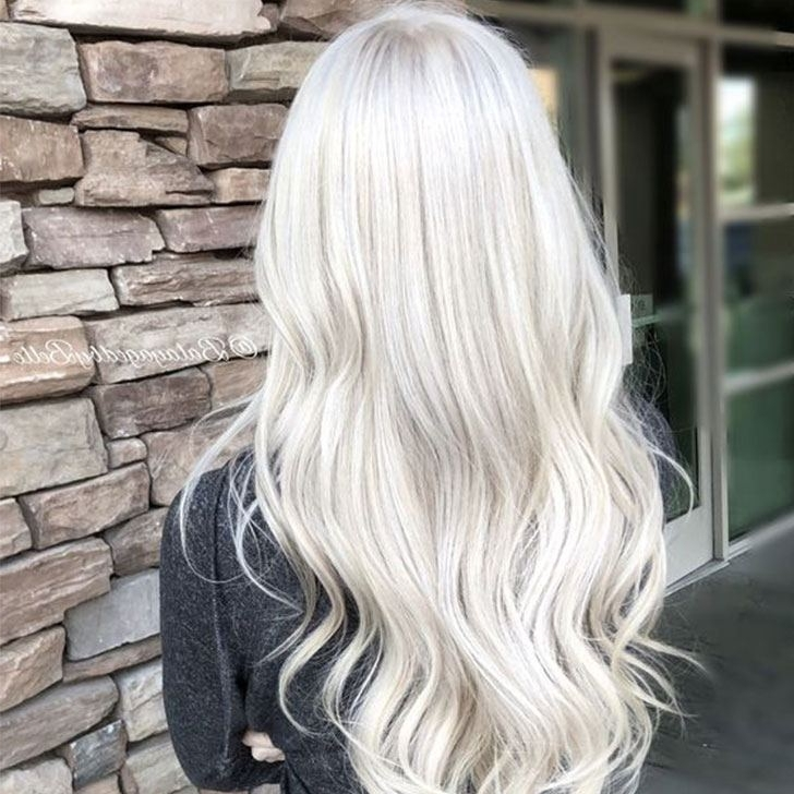 30 Platinum Blonde Hairstyle Ideas For 2018 Pertaining To Platinum Blonde Long Locks Hairstyles (View 2 of 25)