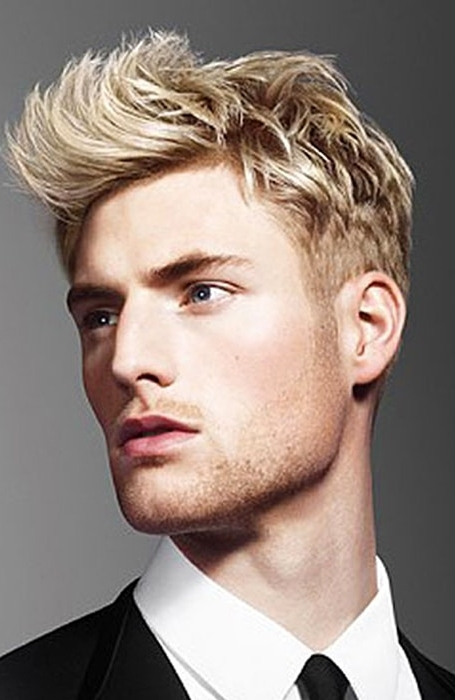 30 Sexy Blonde Hairstyles For Men – The Trend Spotter Pertaining To Shaggy Fade Blonde Hairstyles (View 3 of 25)