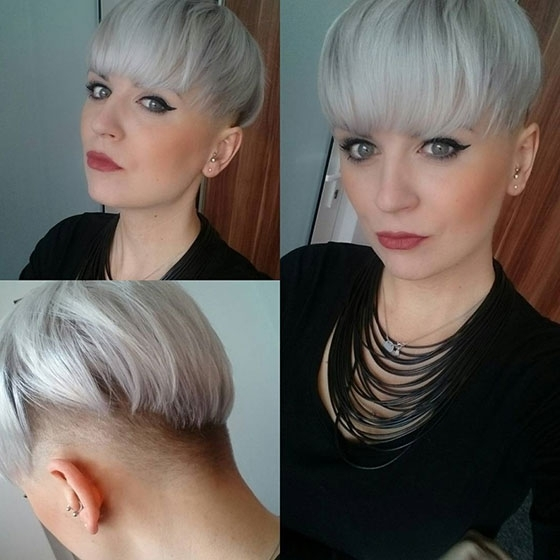 30 Short Hairstyles For Fine Hair Intended For Most Current Uneven Undercut Pixie Hairstyles (View 24 of 25)