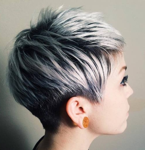 30 Short Ombre Hair Options For Your Cropped Locks In 2018 With Short Silver Crop Blonde Hairstyles (View 4 of 25)