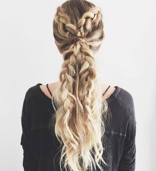 30 Simple Easy Ponytail Hairstyles For Lazy Girls – Ponytail Ideas 2018 For Double Braided Wrap Around Ponytail Hairstyles (View 23 of 25)