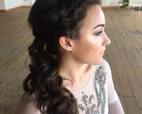30 Simple Messy Ponytail Hairstyles 2018 – Hairstyles Ideas Regarding Side Braid Hairstyles For Curly Ponytail (View 25 of 25)