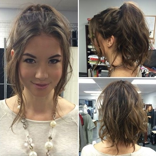 30 Simple Messy Ponytail Hairstyles | Hairstyles Ideas For Messy And Teased Gray Pony Hairstyles (View 2 of 25)