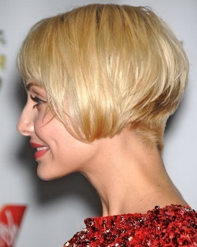 30 Stacked Bob Haircuts For Sophisticated Short Haired Women Inside Recent Stacked Pixie Bob Hairstyles With Long Bangs (View 24 of 25)